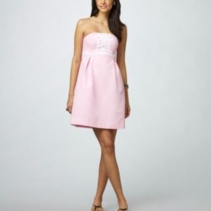 Lily Pulitzer Betsy dress solid faille pink